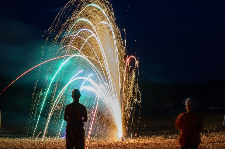 Silvester mit Feuerwerk in der Jugendherberge Kretzschau