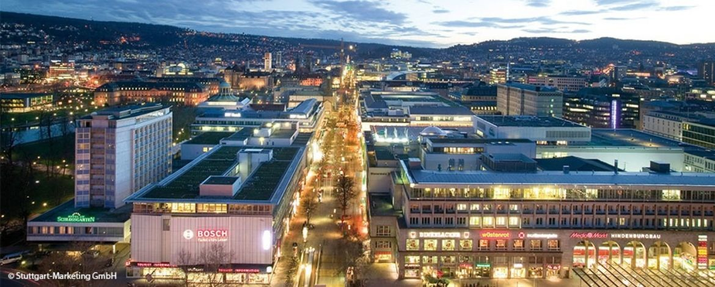Königstraße mit Hindenburgbau