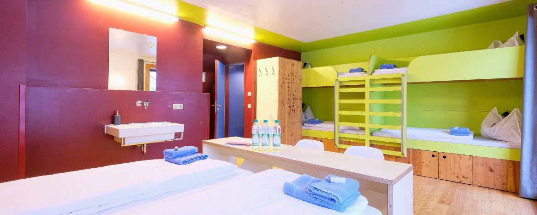Zimmerbeispiel in der Jugendherberge Berchtesgaden, Haus Untersberg