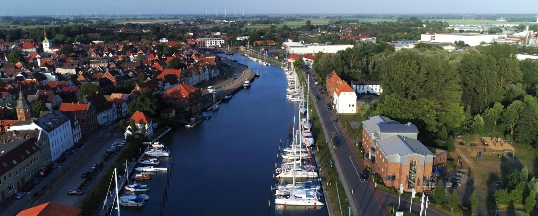 Luftbild Jugendherberge Glückstadt am Hafen