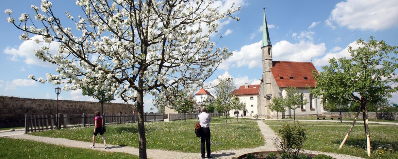 Das Burggelände in Burghausen