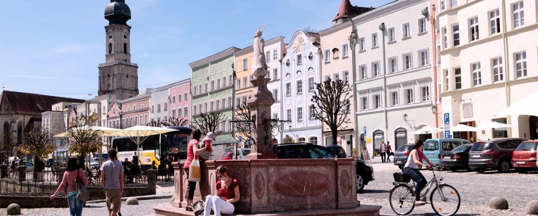 Die gemütliche Altstadt von Burghausen