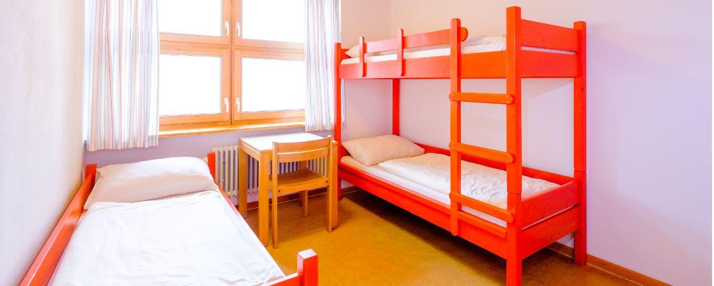Zimmerbeispiel in der Jugendherberge Pottenstein