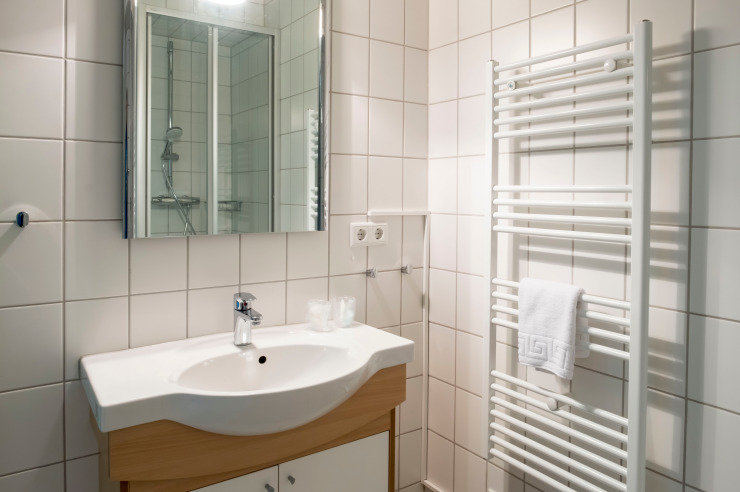 Badezimmer der Jugendherberge Neumünster
