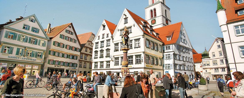 Marktplatz Biberach; © Werbeagentur Fouad-Vollmer