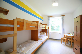 Familienzimmer der Jugendherberge Kappeln