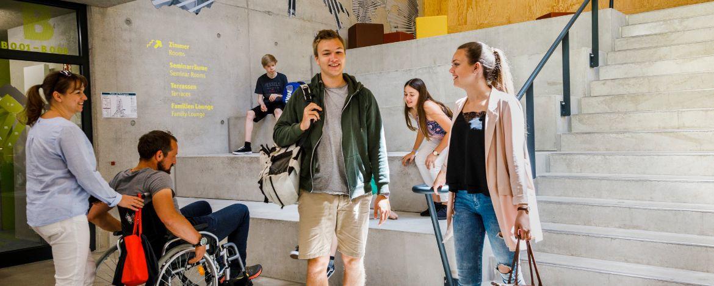Foyer der Jugendherberge Bayreuth - ideal zum Treffen