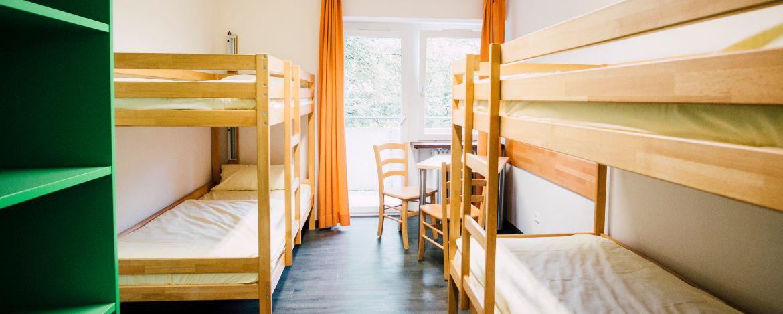Zimmerbeispiel in der Jugendherberge Augsburg