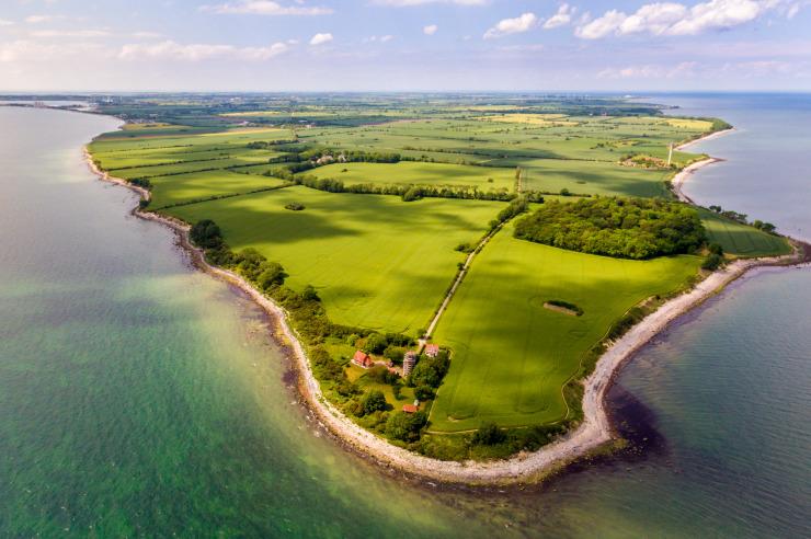 Insel Fehmarn aus der Luft