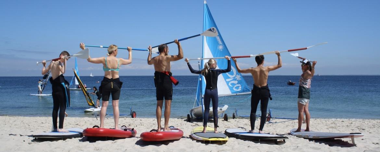 Stand-Up-Paddling Kurs der Jugendherberge Hörnum auf Sylt