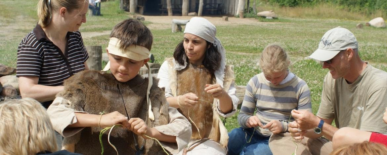 Steinzeit-Klassenfahrt der Jugendherberge Albersdorf