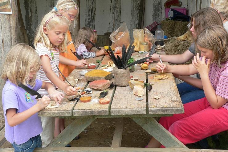 Steinzeitaktionen im Steinzeitpark