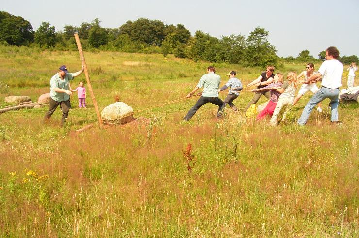 Steinzeitaktion in der Jugendherberge Heide