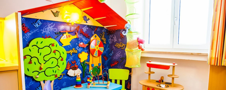Spielzimmer in der Jugendherberge