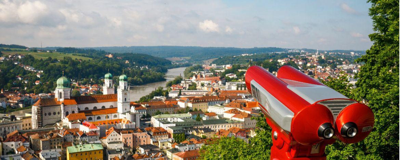 Panoramablick auf die Dreiflüssestadt Passau