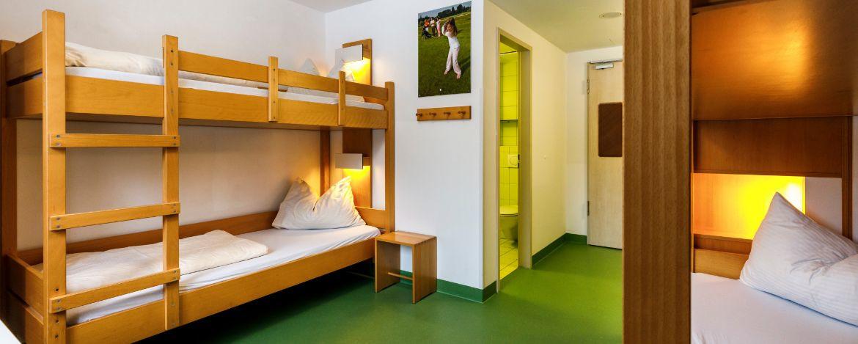 Zimmerbeispiel in der Sport|Jugendherberge Bad Tölz