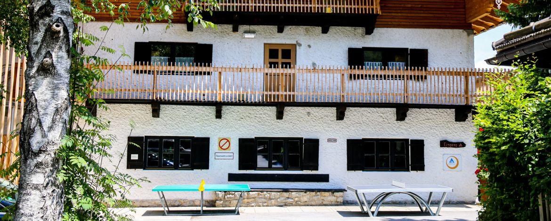 Die Jugendherbere Schliersee ist ruhig gelegen und bietet viele Freizeitmöglichkeiten