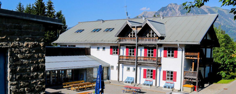 Jugendherberge in den Alpen