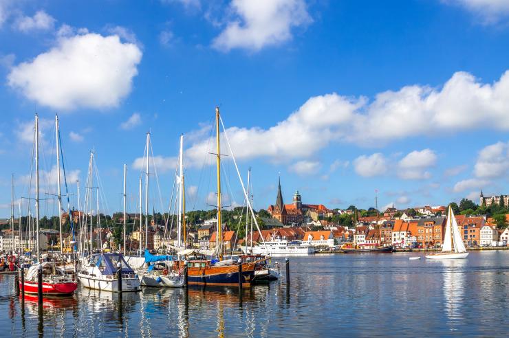 Hafen von Flensburg an der Ostsee