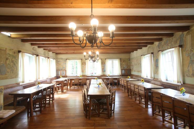 Speisesaal der Jugendherberge Husum an der Nordsee