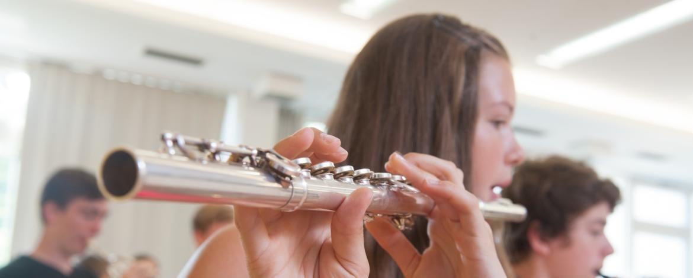 Orchesterprobe in der Jugendherberge Dinkelsbühl