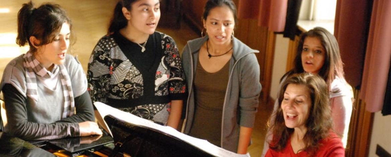 Musicalgesang bei der Klassenfahrt mit Musicalaufführung
