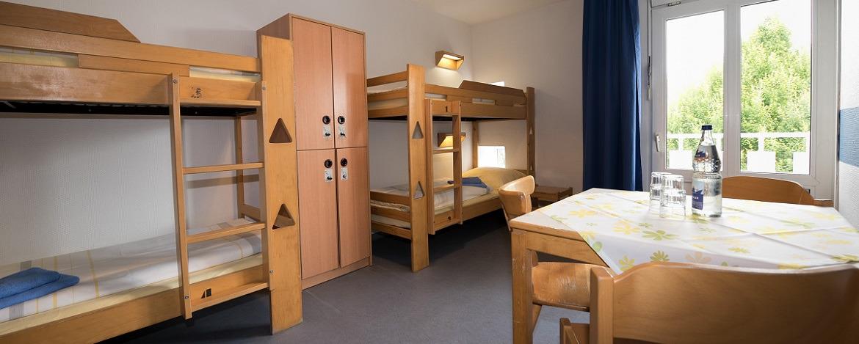 Zimmer der Jugendherberge Kiel