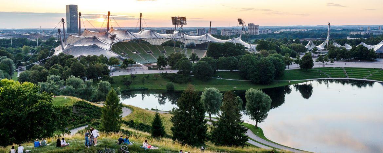 Olympiapark München am Abend - eine tolle Kulisse