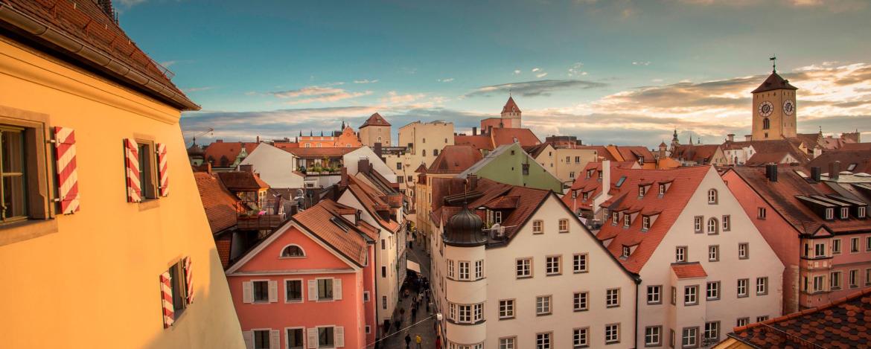 Blick über das schöne Regensburg