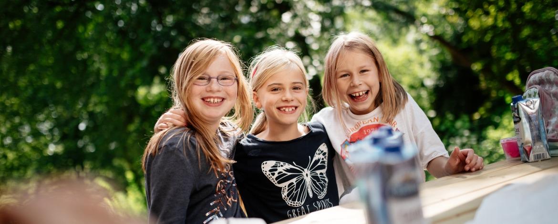 Mädchen bei der Ferienfreizeit in Mölln