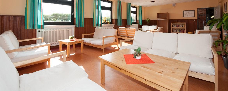 Familienaufenthaltsraum in der Jugendherberge Cuxhaven