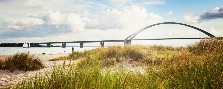 Fehmarnsund-Brücke auf der Insel Fehmarn