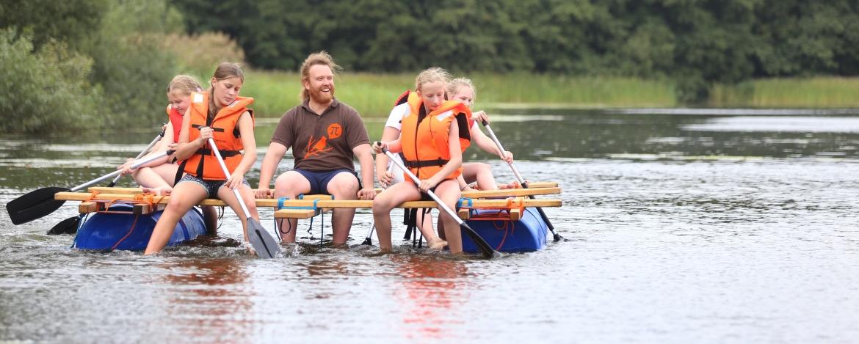 Abenteuer Floßbau in der Jugendherberge Kappeln