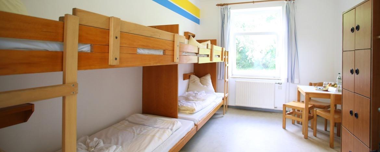 Zimmer der Jugendherberge Kappeln
