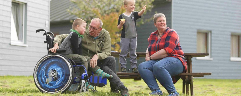 Familien mit Kindern im Rollstuhl fühlen sich in der Jugendherberge Niebüll wohl