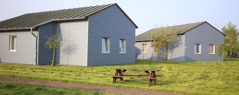 Schöne Hütten der Jugendherberge Niebüll