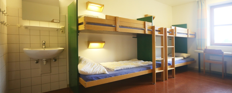 Beispielzimmer der Jugendherberge Westensee