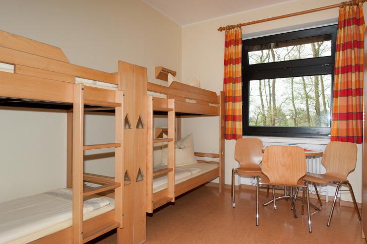 Zimmer der Jugendherberge Cuxhaven-Duhnen