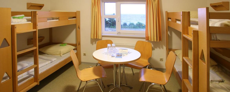 Zimmer der Jugendherberge Dahme
