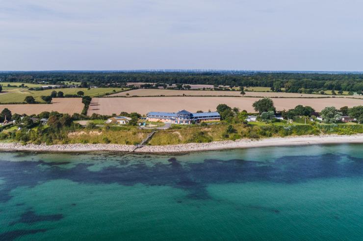 Luftbild der Jugendherberge Dahme an der Ostsee