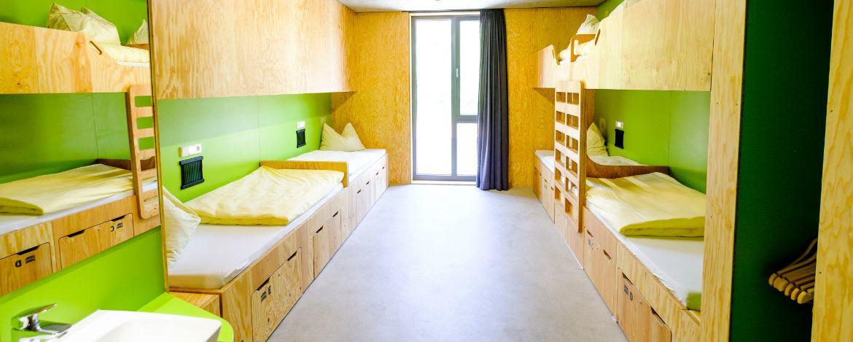 Zimmerbeispiel in der Jugendherberge Bayreuth