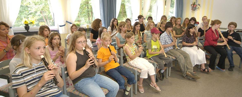 Musikprobe in der Jugendherberge Montabaur