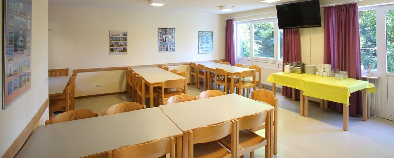 Speisesaal der Jugendherberge Albersdorf