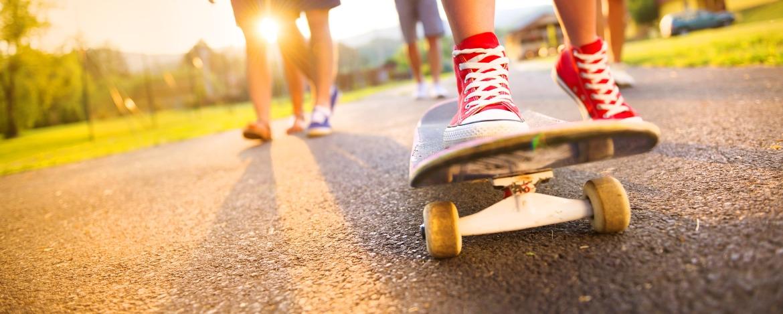 Skaten im nahen Skatepark Bad Oldelsoe