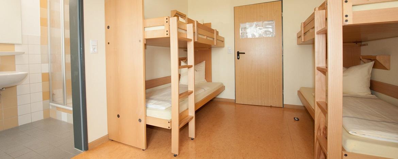 Zimmer der Jugendherberge Cuxhaven