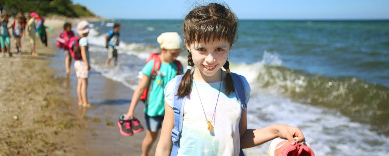 Kids am Meer in Dahme