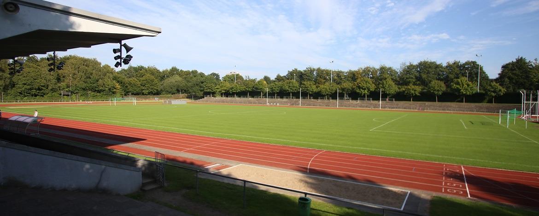 Sportstadion Flensburg neben der Jugendherberge