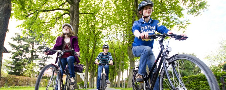 Fahrradfahren auf dem Elberadweg