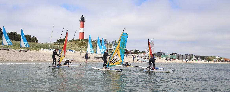 Windsurfen lernen in der Jugendherberge Hörnum auf Sylt
