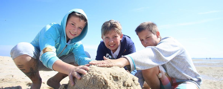 Klassenfahrt am Strand von Sylt